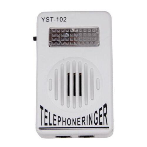 Telephone Phone Amplifier Strobe Light Flasher Bell Extra-Loud Ringer Sound HOT