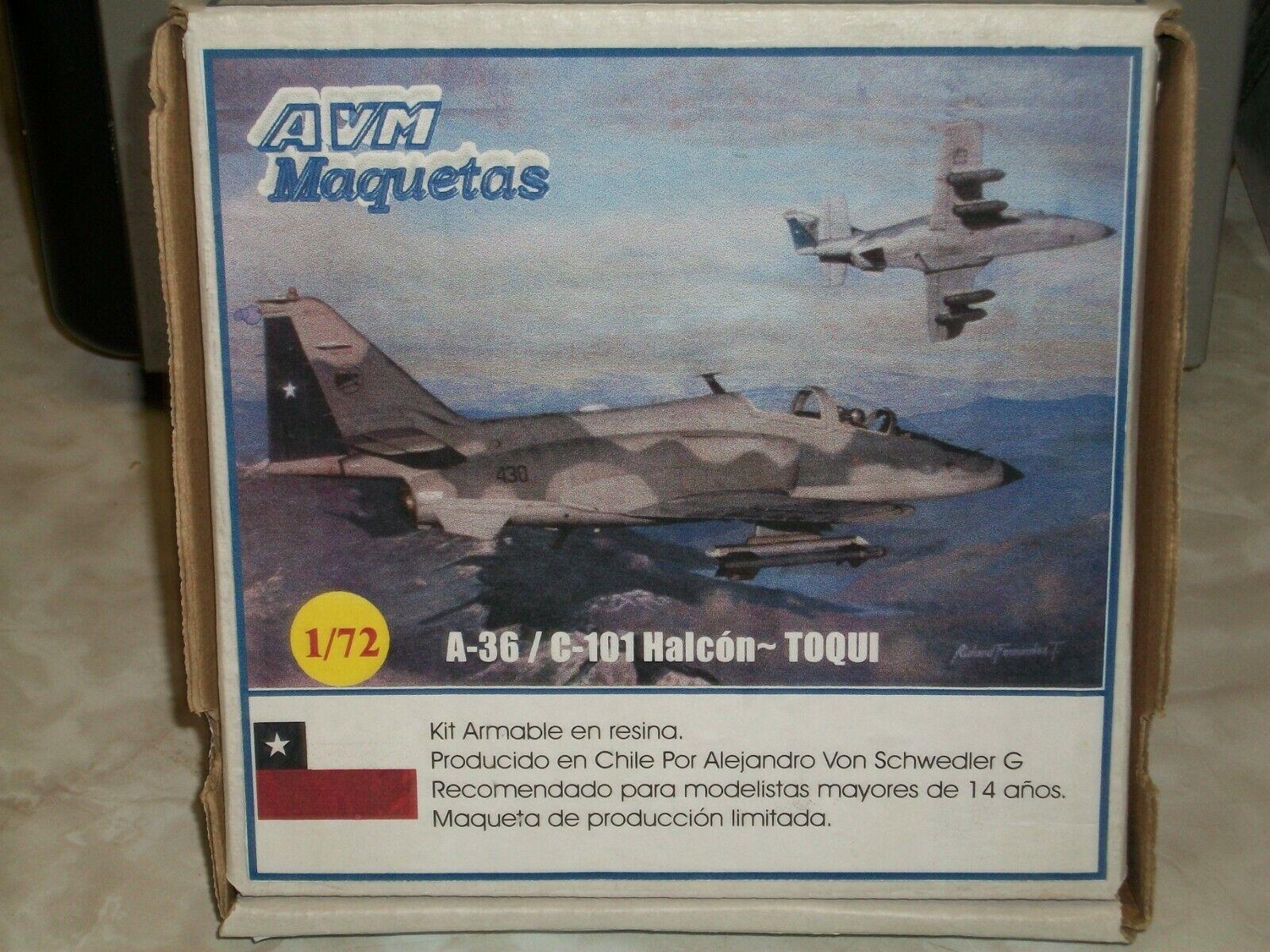 AVM Maquetas 1 72 Scale EResin A-36 C-101 Halcon-Toqui