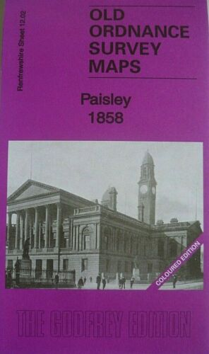 Old Ordnance Survey Maps Paisley near Glasgow Scotland 1858 Godfrey Edition New