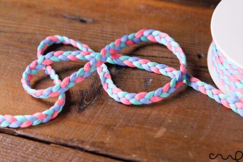 5 m Rose Bleu Menthe Ribbon Braided Trim Ribbon Decorative Sewing Craft 7 mm large