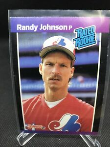 1989 Donruss Rated Rookie Randy Johnson Rookie RC