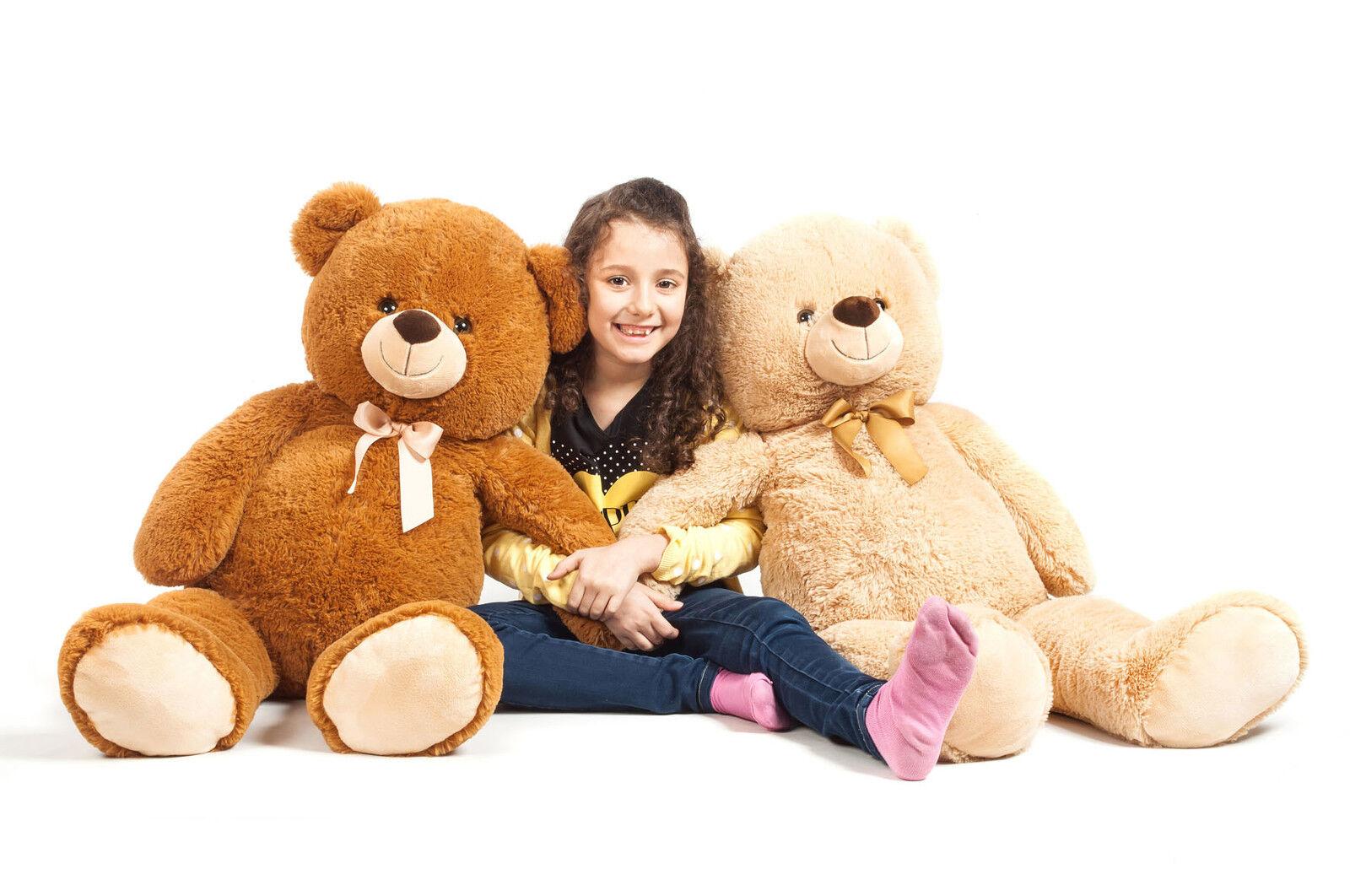 Grand Bear plush XXL all soft H 100 cm Brown Giant Pooh 1m