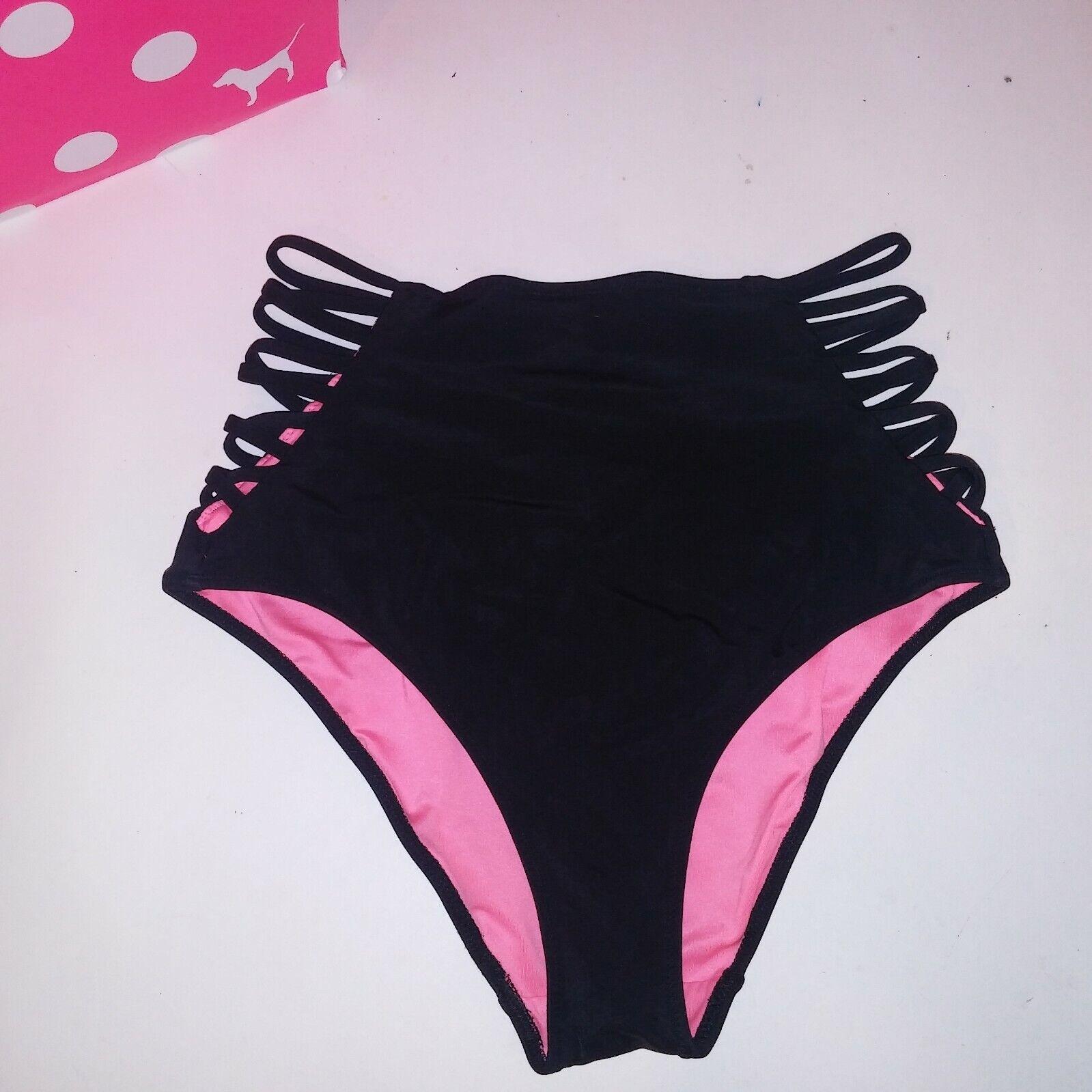 S Small VICTORIA/'S SECRET VS Low-rise Strappy Cheeky Bikini Bottom Shimmer Multi