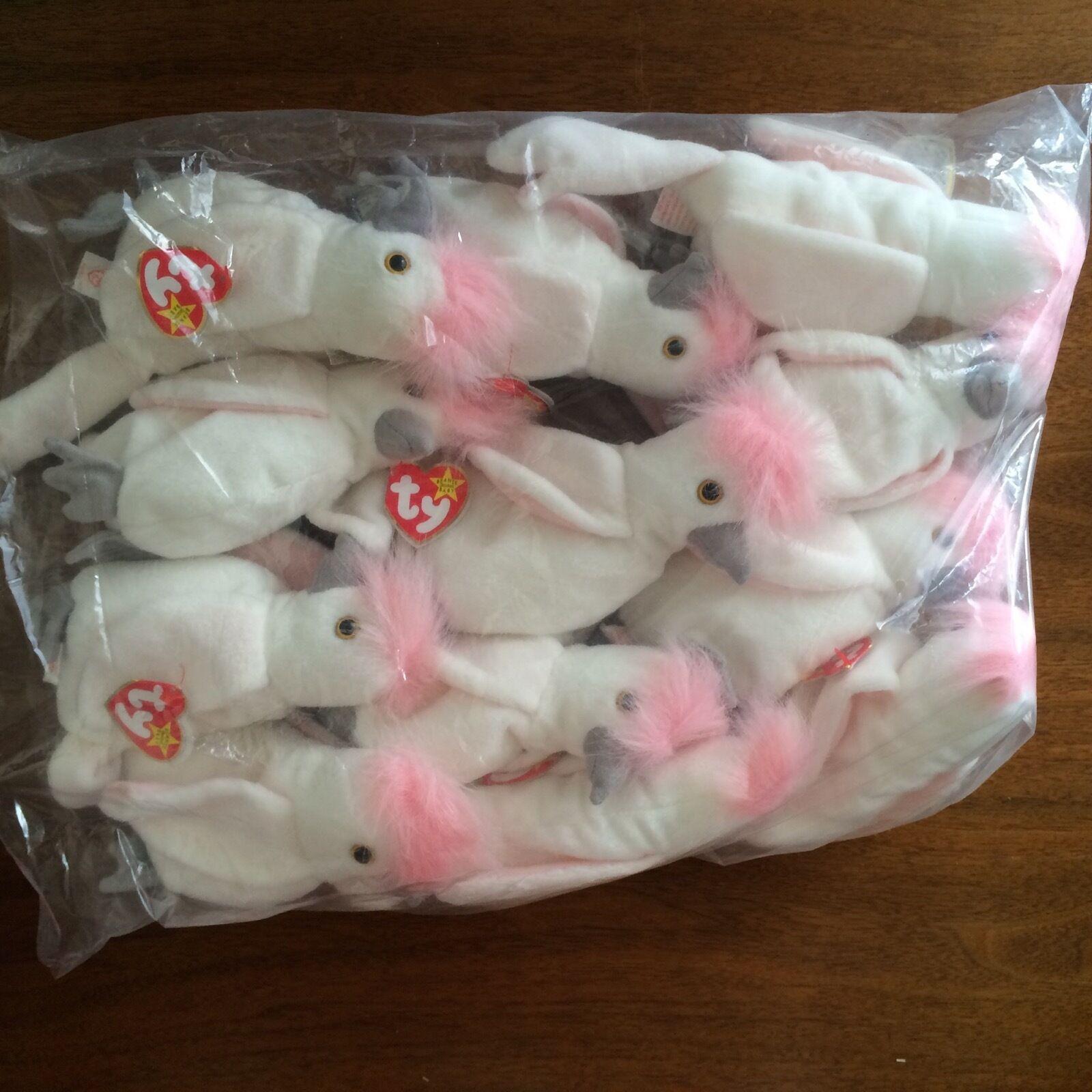 "Beanie Babies ""Kuku  the Bird by Ty, Inc.- ONE DOZEN - Ret - NIB Wholesale Lot"