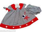 BNWT Baby girls summer bird 3 piece dress set outfit 9-12 12-18 18-24 months