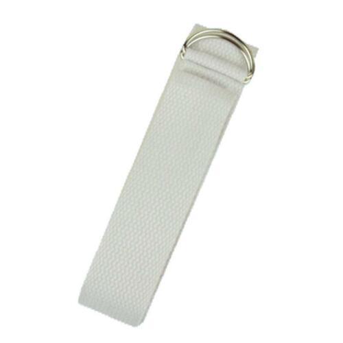 Yogagurt D-Ring Schnalle weiß Baumwolle 250x3 cm