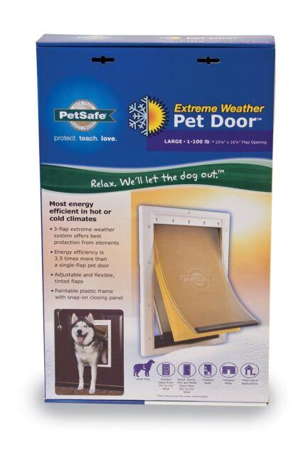 Petsafe Dog Door Heavy Duty Large Pet Doggie Ruff Extreme Weather