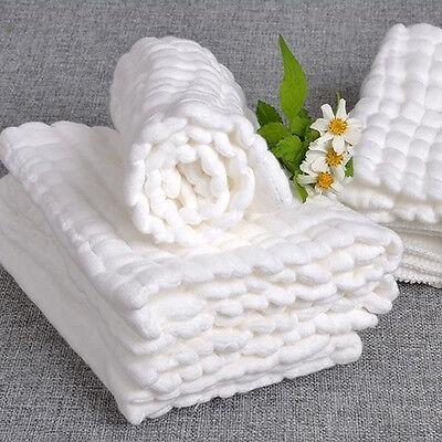 Soft Cotton Baby Infant Washcloth Bath Towel Newborn Feeding Bathing Wipe Cloth