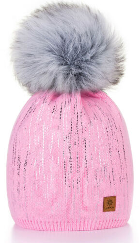 Unisex Kids Children Knitted Beanie Hat Hats Cap Winter Worm Girls Boys Bubble Z