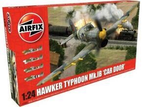 AIRFIX-1-24-Hawker-Typhoon-MK-1B-porte-voiture-034-British-AVION-WW2-modele-A19003