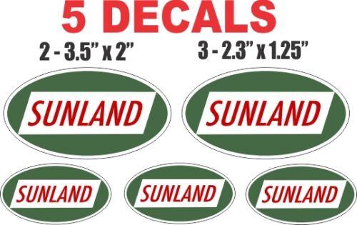 5 Sunland Gasoline Vinyl Decals
