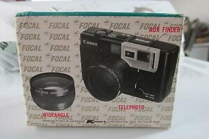 Auxiliary Lens Set telephoto And Wideangle For Canon Sure Shot Retails $50