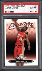 2003 Upper Deck MVP #201 LEBRON JAMES RC Cleveland Cavaliers PSA 10 Gem Mint