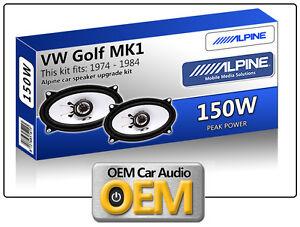 VW-GOLF-MK1-CABRIOLET-casse-portiera-anteriore-Alpine-4x6-altoparlante-auto