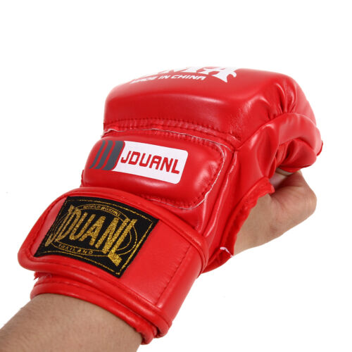 Gel Tech MMA UFC Leather Grappling Gloves Boxing Fight Punch Bag Muay Thai OT8G