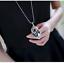 Damen-Halskette-Schmuck-Collier-Anhaenger-Silber-lang-Kette-Mode-Strass-Luxus-M5 Indexbild 3