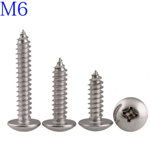 M6 316 A4 Stainless Phillips Truss Head Sheet Metal Screw Self Tapping Screws