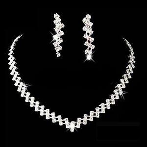 l'atteggiamento migliore 2e6e1 edb65 Dettagli su SET ORECCHINI + COLLANA STRASS - Necklace & Earrings