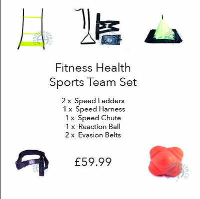 Fitness Health Personal Trainer Sports Team Agility Speed Training Set Outdoor