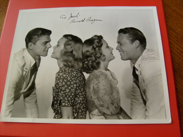 "RONALD  REAGAN   SIGNED  AUTOGRAPHED   8 X 10 ""   FROM  THE  MOVIE  BROTHER  RAT"