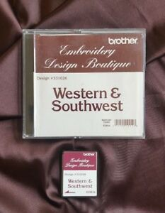 Brother-Embroidery-card-for-embroidery-Machine-Western-amp-Southwest-Rare