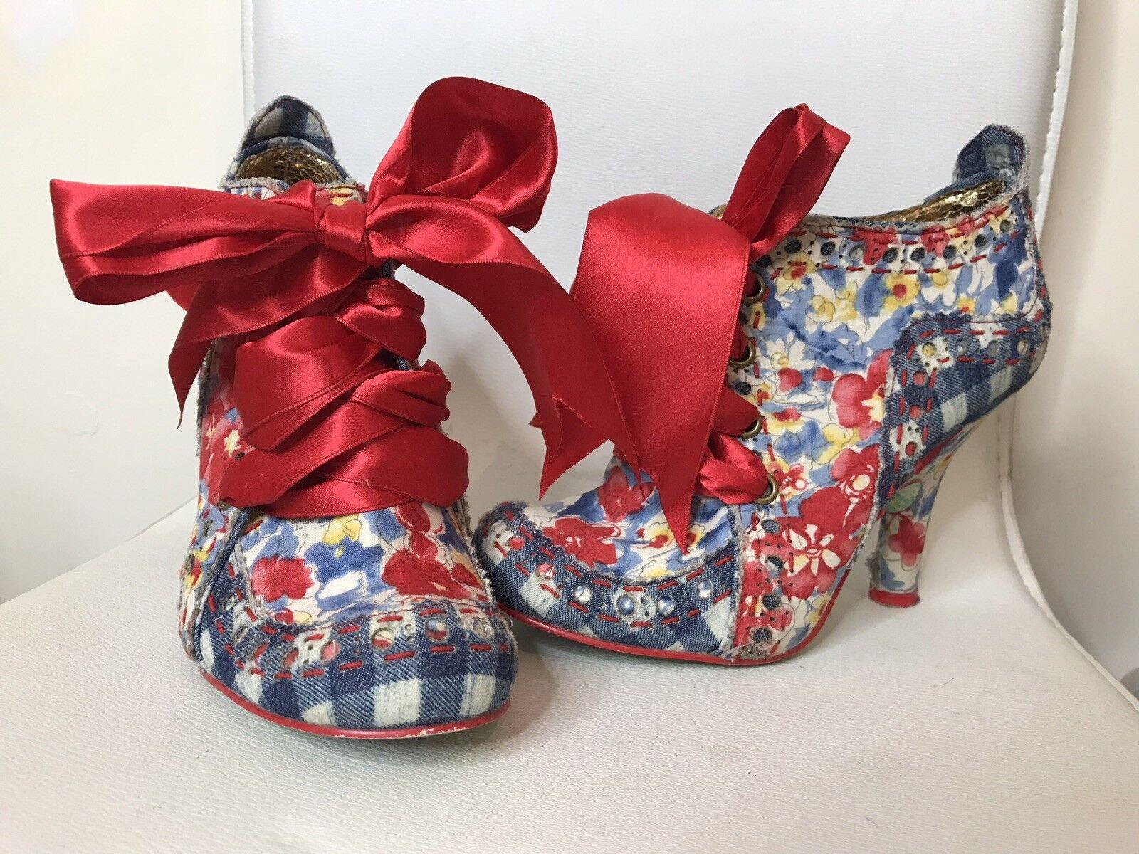 Irregular Choice Abigails Partito Legare scarpa stivali UK3 | Il colore è molto evidente  | Uomini/Donna Scarpa