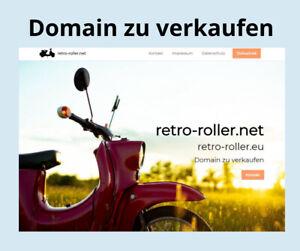 Domain zu verkaufen -  retro-roller.net / .eu
