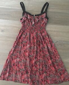 Ladies-size-10-Pink-HOT-OPTIONS-Spotty-Summer-Dress-Excellent-Con