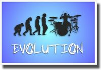Drummer Evolution - Music Poster