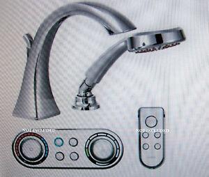 Moen Voss Iodigital High Arc Roman Tub Faucet Whandshower Chrome