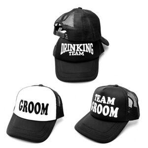 Groom Drinking Team Print Trucker Hat Men Hip-Hop Snapback Baseball ... d6722f9fdd6d