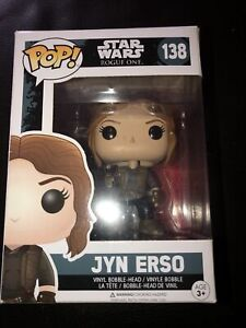 Funko-Pop-STAR-WARS-ROGUE-uno-JYN-erso-VINYL-Bobble-Head-Figura-138-NUOVO-CON-SCATOLA