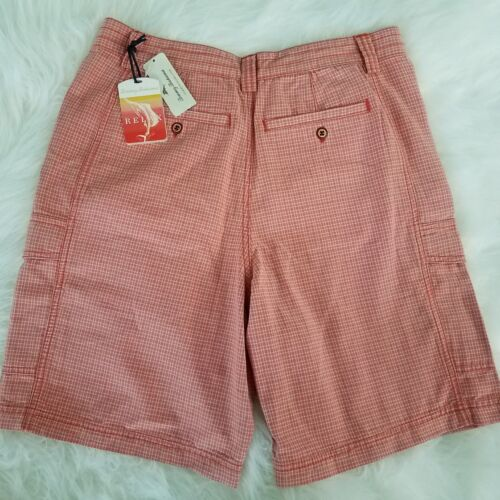 Casual Camping 38 Arancione Cargo Relax 34 Tommy Shorts Plaid Bahama 30 B7 Sz FtvqcTw4