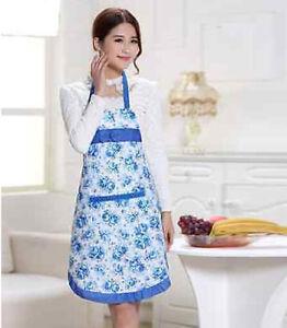 Bon Details About Womens Housewife Floral Cook Restaurant Chef Kitchen Aprons  Convenient