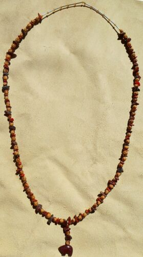 Navajo Ghost Cedar Beads Juniper Moonakite Jasper BEAR 30 Necklace by Roseanne