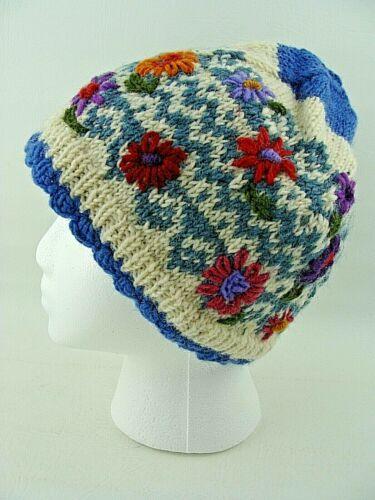 Lost Horizons Hand Knit Nepal Hat Beanie Multi-Col