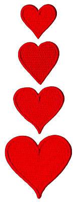 Aufnäher 7,5x7,5cm Herz Liebe Patches Aufbügeln Bügelbild rot