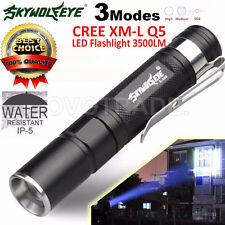 Mini 3500LM Zoomable CREE Q5 LED Flashlight 3 Mode Torch Super Bright Light Lamp