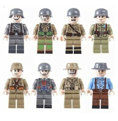 WW2 Soldier MiniFigures Japan France Italian GB U.S Legos Comp Field Soldiers