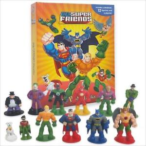 DC SUPER FRIENDS BUSY BOOK - STORY 12 FIGURES AND A PLAYMAT BRAND NEW