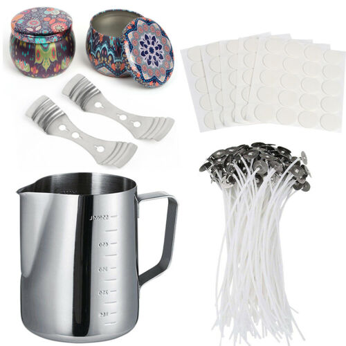 Candle Making Kits DIY Candles Craft Tools Pouring Pot Candle Wicks Tins Fast US
