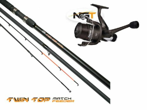 Twin Tip Fishing Rod Float Feeder Rod in One Shakespeare Omni Reel with Line