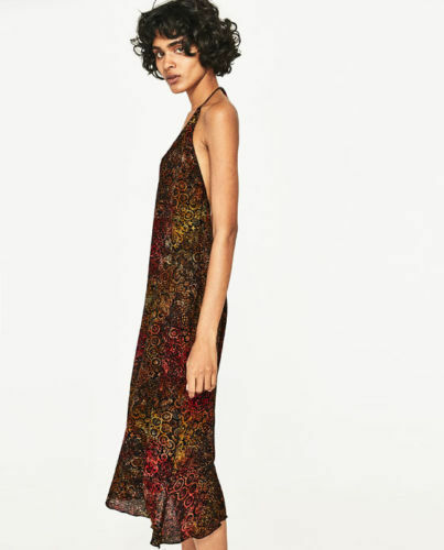 Zara Batik Batik Batik Maxi Abito vestito fiori abito BATIK TIE DYE long dress floral printed S ecb718