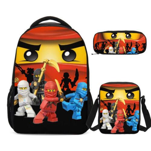 Ninjago Movie Big School Backpack Insulated Lunch Box Shoulder Bag Pen Case Lot