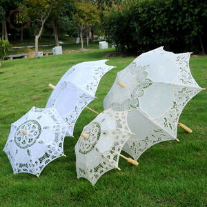 Vintage Handmade Parasol Wedding Bridal Decor Umbrella Retro Photography Props
