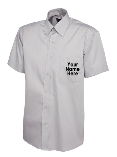 Personalised Custom Workwear Embroidered Mens Pinpoint Oxford Half Sleeve Shirt