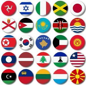 Banderas-del-mundo-VARIOS-25mm-2-5cm-Boton-Insignia-I-A-M