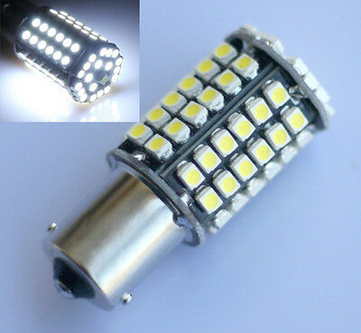 4pcs 1156 BA15s 80 SMD 3528 LED Weiss Lampe Birne Licht Rücklicht Blicker DC 12V