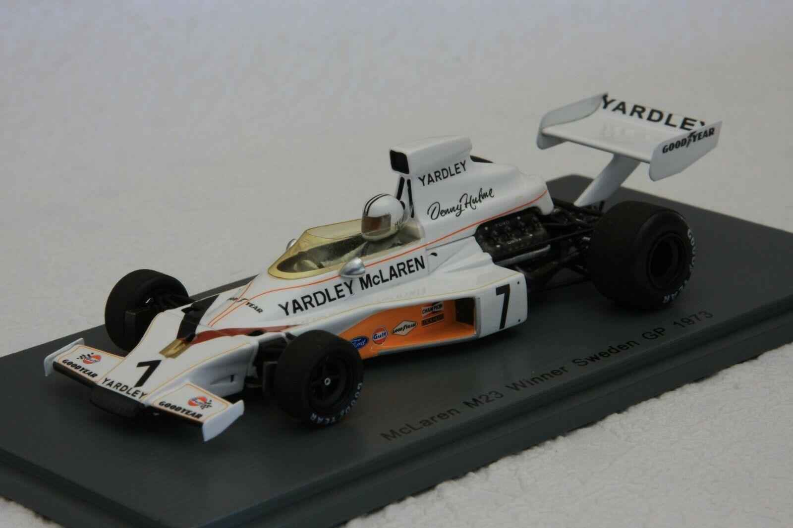 1 43 SPARK McLaren m23,  7 Denny Hulme, SWEDEN GP 1973