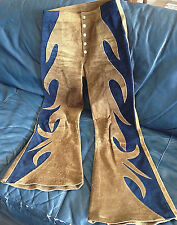 VINTAGE FLAMIN'-MAMIE ROUGH SUEDE LEATHER PANTS - SMALL - GREAT SHAPE